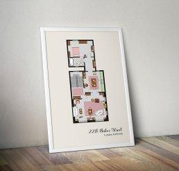 221b Baker Street planimetria