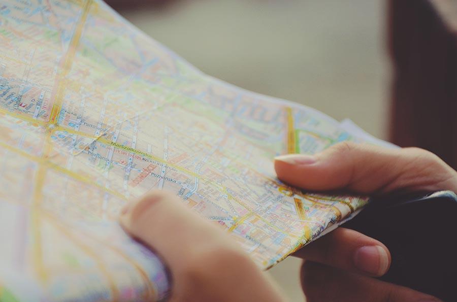Mappa di viaggio