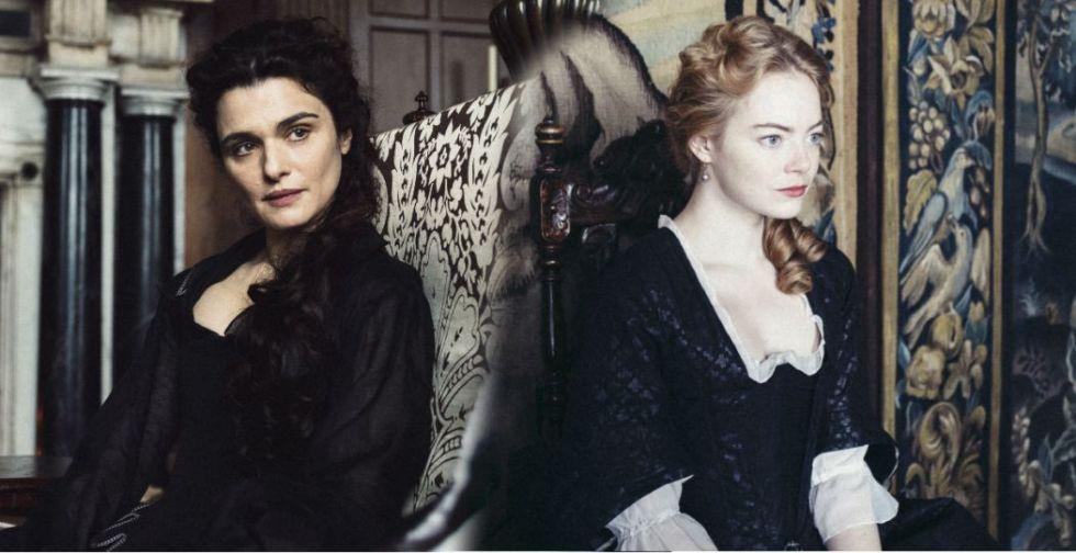Emma Stone e Rachel Weisz in The Favourite